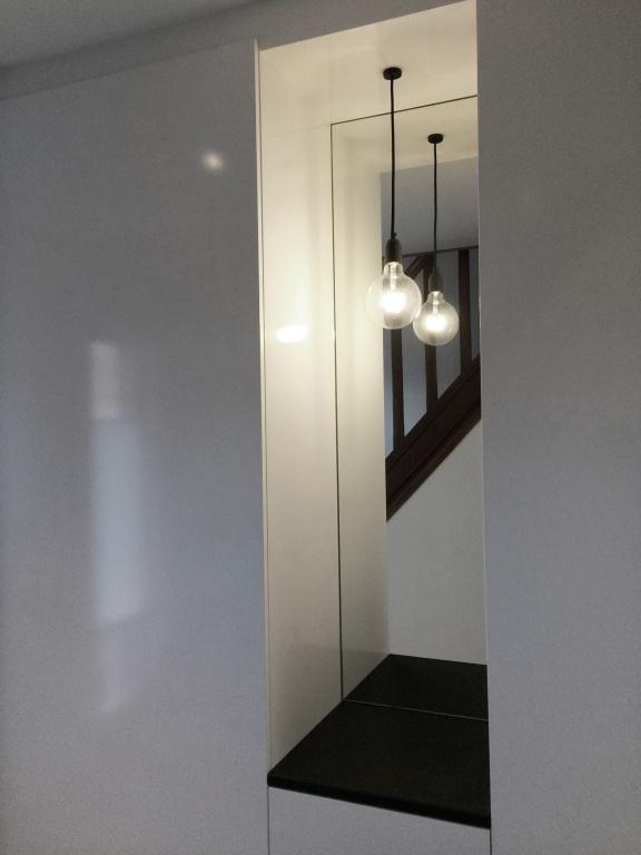 Home portfolio particulieren woonkamer keuken hal for Ladenblok rvs