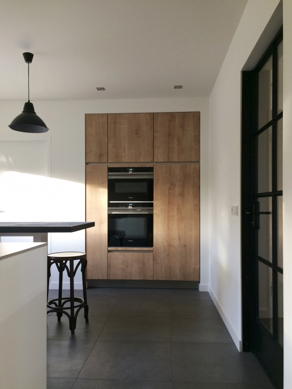 Home portfolio particulieren woonkamer keuken hal for Ladenblok keuken