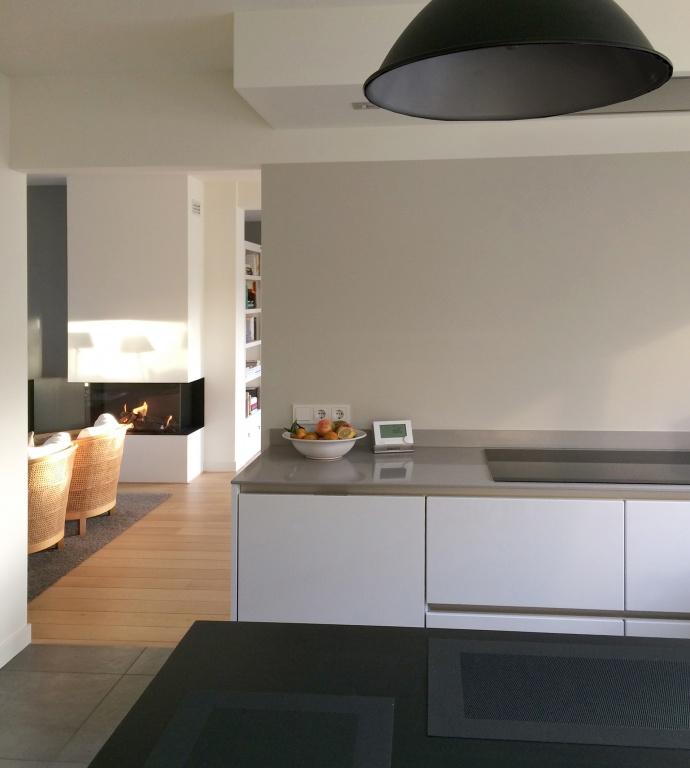Home portfolio particulieren woonkamer keuken hal for Zwevend ladenblok